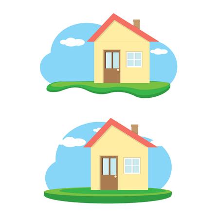 investment real state: vector Ilustración de la casa. Home logo Home sweet Vectores