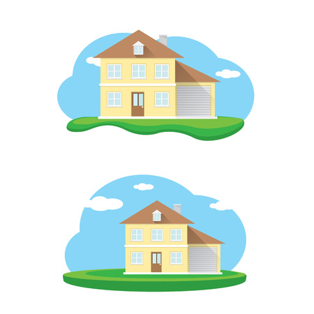 huis logo: vector house illustration. home sweet home logo