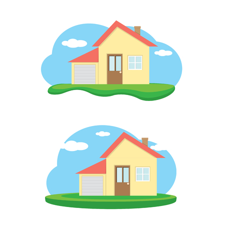 investment real state: vector house illustration. home sweet home