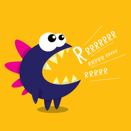 cartoon friends: Vector cartoon funny dragon. Cartoon cute monster Dinosaur.