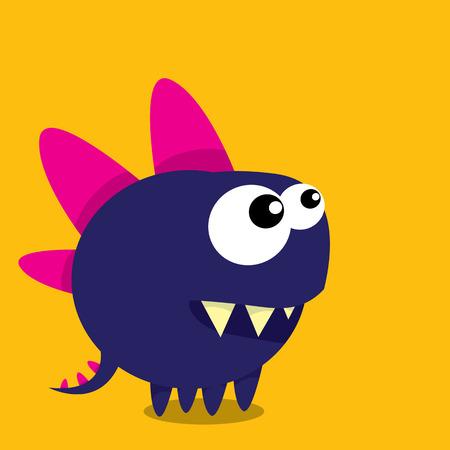 dancing dragon: Vector cartoon funny dragon. Cartoon cute monster Dinosaur.