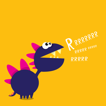 dinosaurio: Vector de dibujos animados divertido drag�n. Cartoon Dinosaur monstruo lindo.