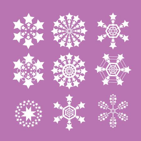 flake: Snowflakes vector set. snow flake icon set Illustration