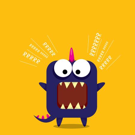dinosauro: Vector cartoon drago divertente. Cartoon carino mostro dinosauro. Archivio Fotografico