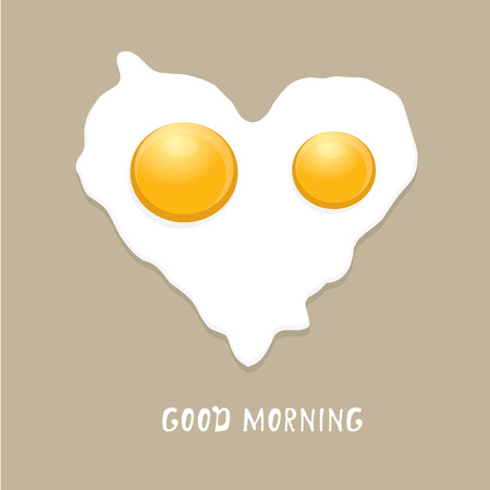yolk: Fried Egg vector illustration. good morning concept.  breakfast fried hen or chicken egg with a orange yolk in the centre of the fried egg.