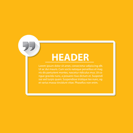 inverted: Quote sign icon. Quotation mark speech bubble symbol. Quotation background