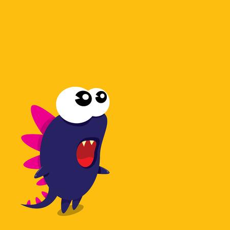 Vectorbeeldverhaal grappige draak. Cartoon schattig monster Dinosaur.