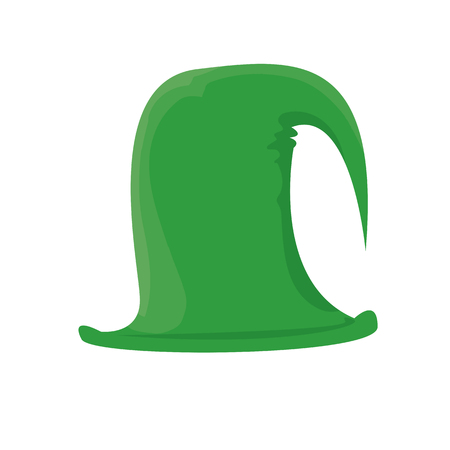 cartoon hat: cartoon green christmas elf hat. vector illustration