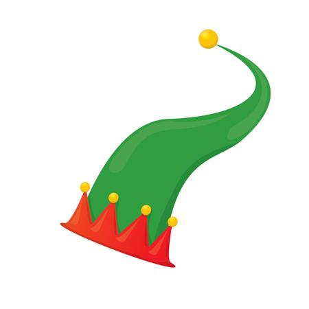 Cartoon Grüne Weihnachten Elf Hut. Vektor-Illustration Lizenzfrei ...