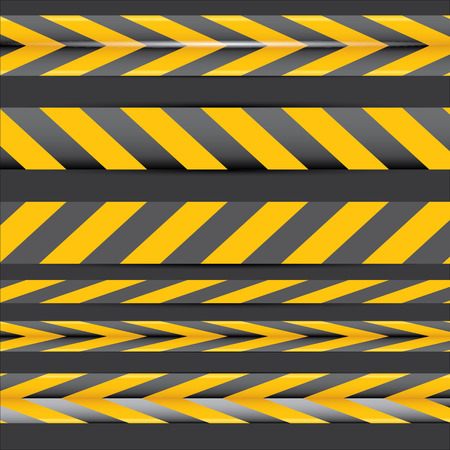 danger do not cross: Cintas de advertencia de seguridad amarillo establecen Precauci�n, No cruce, No entre, Peligro. Para p�ginas web, dise�o penal y derecho