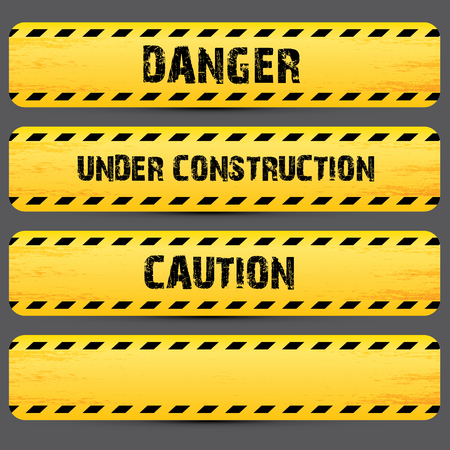 do: Yellow security warning tapes set Caution, Do not cross, Do not enter, Danger. For web, criminal and law design