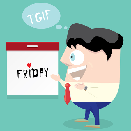 thanks god it is friday concept. i love friday - vector illustration