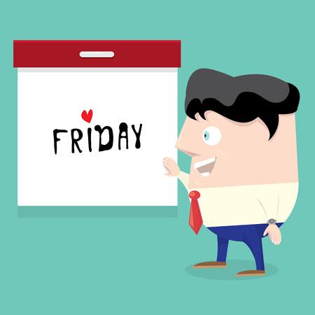 head i: thanks god it is friday concept. i love friday - vector illustration