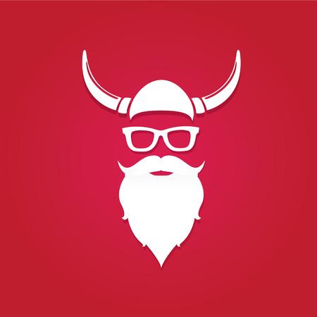 Kerstmis hipster affiche voor partij of wenskaart. Vector illustratie. Santa Hipster Claus. vector vrolijk kerstfeest art design