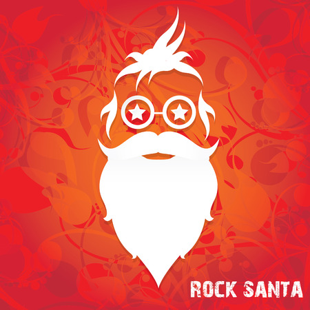 Christmas santa claus beard poster for party or greeting card. Illustration