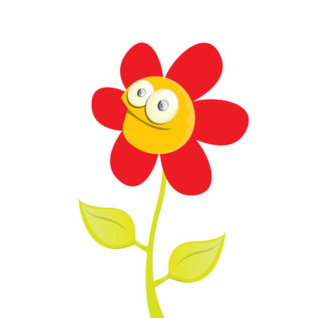 flower petal: vector spring cartoon flowers isolated on white background. vector illustration Illustration