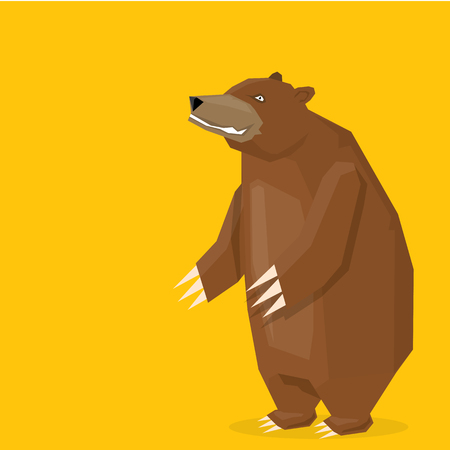 grizzle: vector cartoon bear. grizzle icon. bear muzzle Illustration
