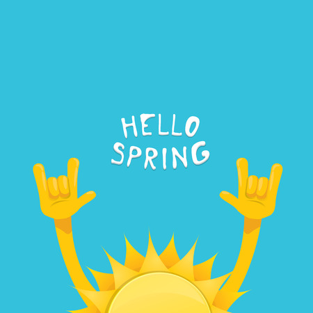 un: un hand rock n roll icon vector illustration. Spring or summer Rock concert poster design template or greeting card