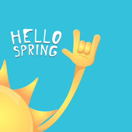 spring roll: un hand rock n roll icon vector illustration. Spring or summer Rock concert poster design template or greeting card