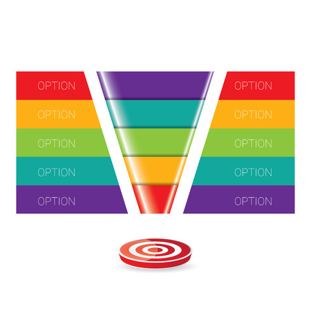 Vector infographic of web design template. vector sales funnel