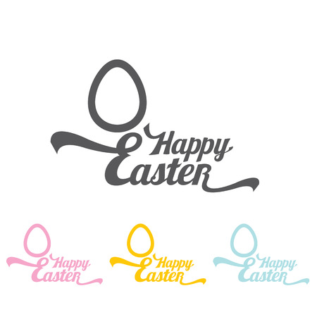 ostern: vector Happy Easter Typographical Background. vector easter spring background