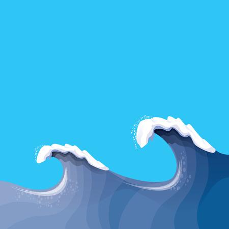 ocean storm: Huge wave for surfing. Ocean storm background