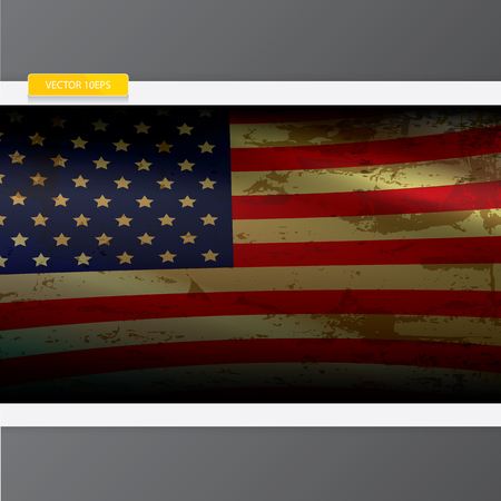 The United States of America grunge old vintage flag. vector USA vintage flag icon. vector USA flag for background