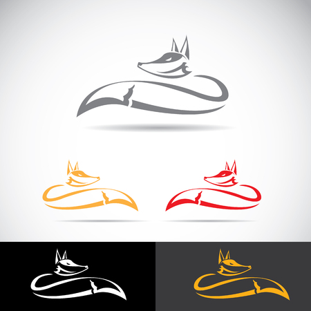 vector fox sign label or tattoo design. simple fox icon
