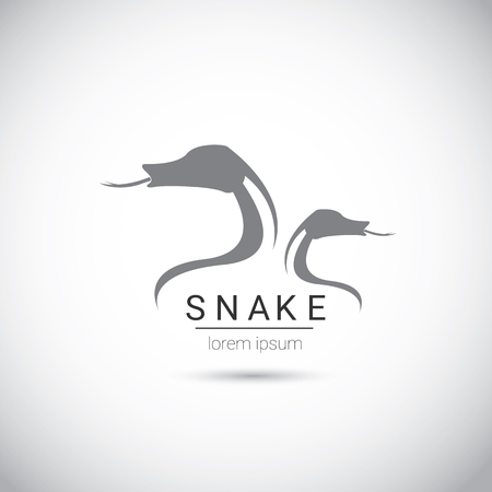asp: vector snake simple black logo design element. danger snake icon. viper symbol Illustration