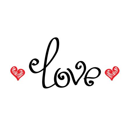 Letters liefde tekst krabbels, Valentijnsdag achtergrond