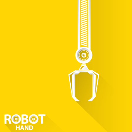 automaton: Clean technology background design template. vector robotic arm symbol. robot hand. Illustration