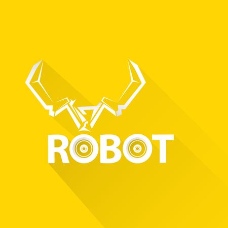 automaton: Clean technology background design template. vector robotic arm symbol. robot hand. Illustration