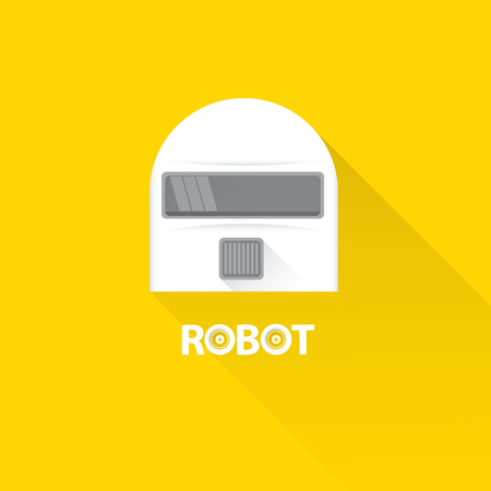 talking robot: funny robot head design. vector robot head Illustration