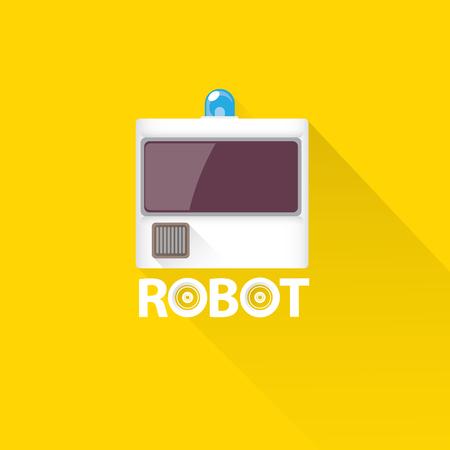 talking robot: funny robot head design. vector robot head Illustration