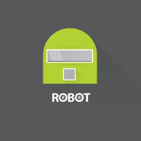 funny robot: funny robot head design. vector robot head Illustration