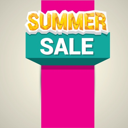 summer sale: vector hot summer sale sticker . summer sale banner or label Illustration
