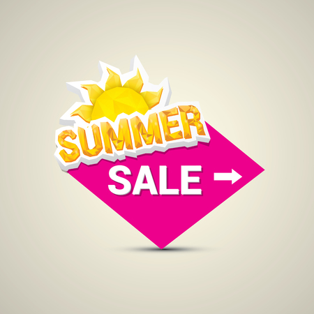 hot summer: vector hot summer sale sticker . summer sale banner or label Illustration