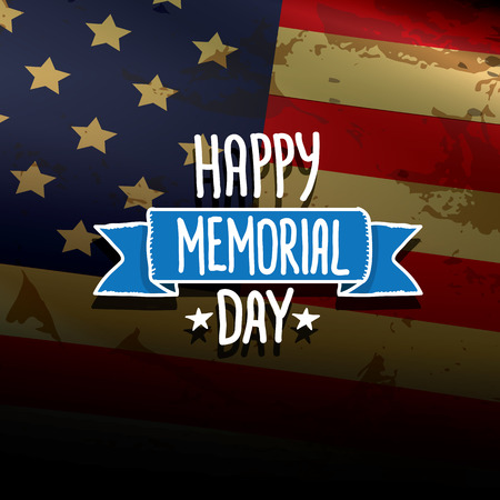 greeting card background: Happy Memorial Day vector background.  Memorial day greeting card