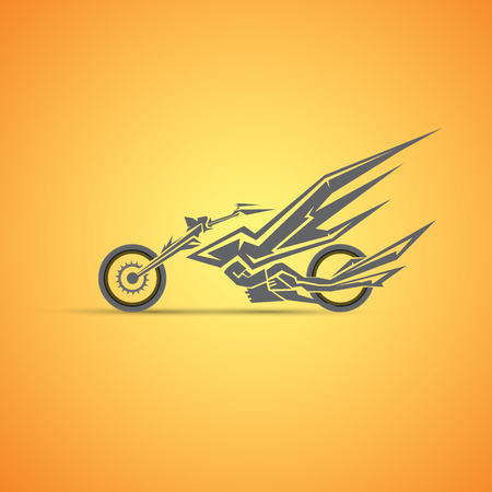 vintage motorcycle label, badge, design element. abstract motorcycle logo