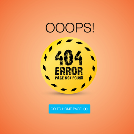 page not found: Creative page not found, 404 error design. Illustration