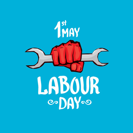 workers rights: 1 may - labour day. labour day poster or workers day Illustration