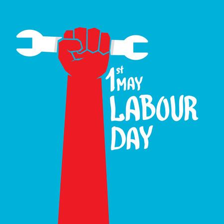 1. Mai - Tag der Arbeit. Tag der Arbeit Plakat oder Arbeiter Tag