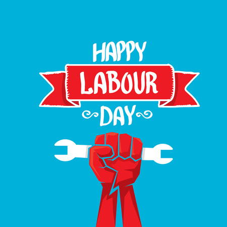 may: 1 may - labour day. vector happy labour day poster or workers day banner