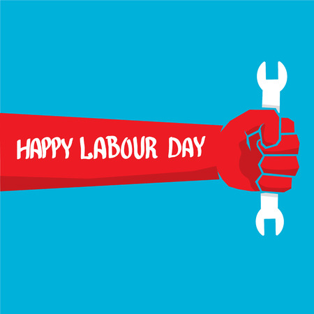 workers rights: 1 may - labour day. vector happy labour day poster or workers day banner