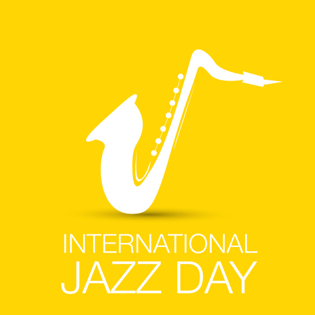 band bar: International jazz day vector illustration with saxophone