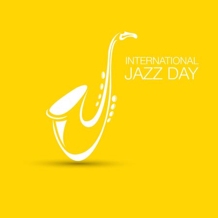 Illustrazione vettoriale di jazz giornata internazionale con sassofono