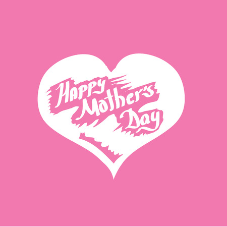 greeting card background: Happy Mothers Day  vector typographical Background or greeting card Illustration