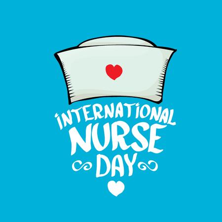día de la enfermera tarjeta de felicitación Internacional vector o fondo