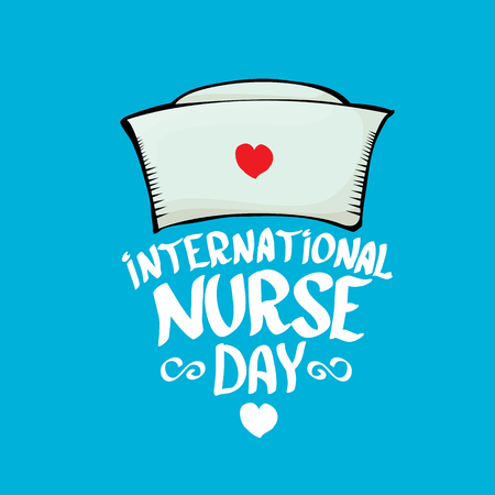 md: International nurse day vector greeting card or background