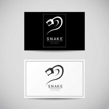 vector snake simple black logo design element. danger snake icon. viper symbol Vettoriali